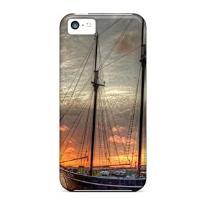 MMZ DIY PHONE CASEHot KLNSLxw5188kOGUR Scooner At Sunset Hdr Tpu Case Cover Compatible With iphone 6 plus 5.5 inch