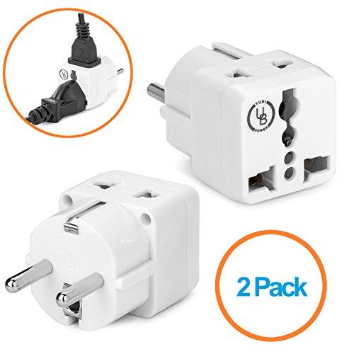 European Plug Adapter by Yubi Power 2 in 1 Universal Travel