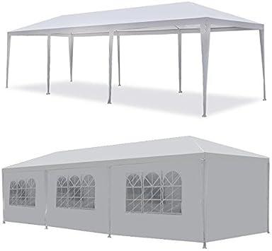 mcombo 10 x30 blanco Canopy Parte Exterior boda tienda de ...