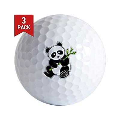 CafePress - Sitting Panda Bear - Golf Balls (3-Pack), Unique Printed Golf Balls