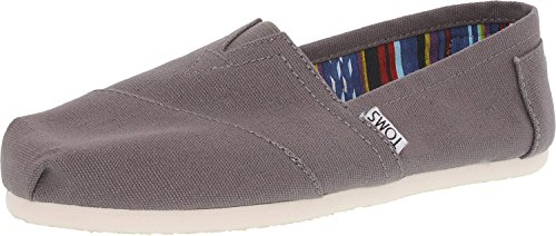 TOMS Women's Classic Canvas Ash Ankle-High Flat Shoe - 11M by TOMS