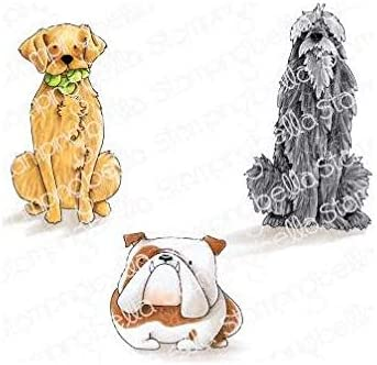 Stamping Bella Cling Stamps-Golden Wolfhound /& Bulldog