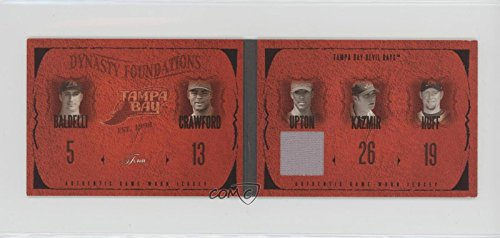 Rocco Baldelli; Carl Crawford; Scott Kazmir; Aubrey Huff; B.J. Upton #38/150 (Baseball Card) 2005 Flair - Dynasty Foundations - Level 1 Jersey #DF-BU/CC/SK/AH/RB