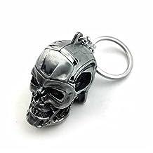 HK MOTO- 1pc Creative Motorcycle Bicycle Skull Key Chain Ring Keychain Keyring Key Fob