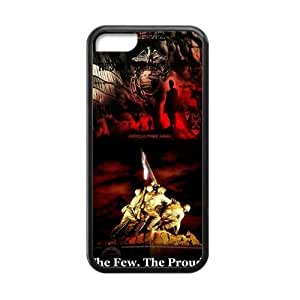 Fantasy Fashion Design Marine Corps Metal Pattern Iphone 5c Case Shell Cover (Laser Technology)