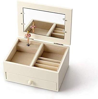 XCXDX Caja de joyería de Madera, Marco de Fotos, Caja de música con Espejo, Regalo para niña: Amazon.es: Hogar