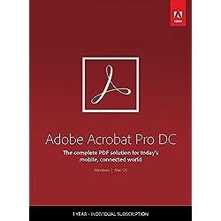 Adobe Acrobat Pro DC - 1 Year Subscription
