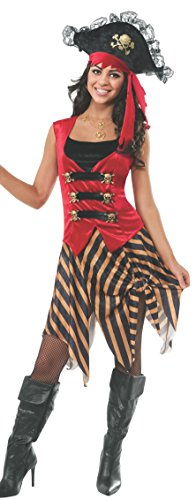 Rubie's Women's Gold Coast Pirate Adult Costume, Multi, Small