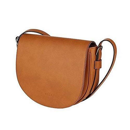 ELLE Rosée Saddle Bag, Casual Daily Anywhere Tote Shoulder Bag, Retro Style Vegan Leather - Limited ()