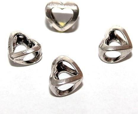 20 Perlen Module Grosslochperlen Modulperlen Kinder bunt 10 x 8 mm Loch 5 mm