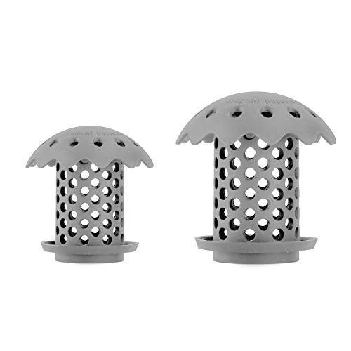 Drain Hair Catcher Bathtub Hair Catcher Sink Hair Catcher Hair Catcher Shower Drain Hair Collector,Stopper,Protector,Filter,Strainer,Snare Silicone 2 Pack/Sizes Fit From 1.5 inch to 1.77 inch Grey