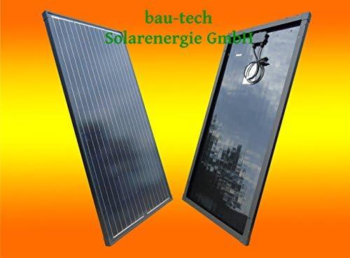 bau-tech Solarenergie 50Watt Solarmodul Solarpanel Monokristallin Full Black (Schwarz) GmbH