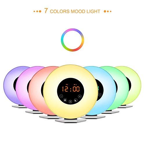 f85735476ce Lyker Wake Up Light 2017 Upgraded Sunrise Alarm Clock With 6 Nature  Sounds