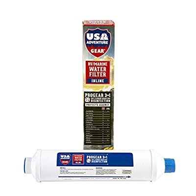 3-Stage RV/Marine XXL Inline Water Filter | Kills Bacteria, Viruses On Contact | Last 4X Longer | Filters Chemicals, Insecticides, Chlorine, Lead | Made in The USA |: Automotive
