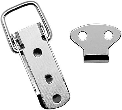 2PCS Doppio gancio di chiusura a molla Chiusura a scatto Chiusure a scatto Cassette degli attrezzi Fibbie di fissaggio per la levetta di fissaggio Stainless Steel 201
