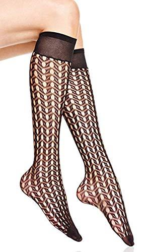 - Hue Women's Openwork Knee-High Socks (Black, One Size)