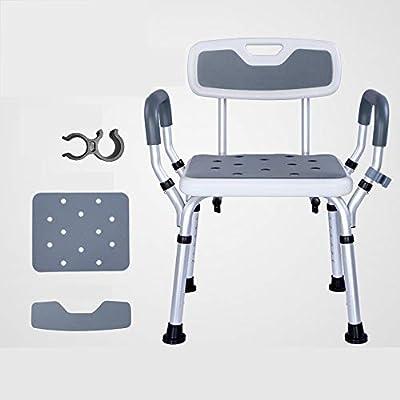 كرسي حمام قابل للتعديل مع أذرع كرسي حمام للاستحمام مقعد حمام مريح مع مسند للظهر مساعد لكبار السن 49 41 68سم 19 16 27بوصة Amazon Ae