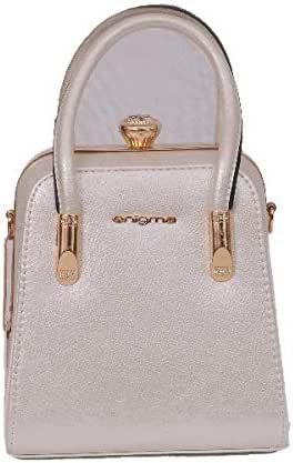 اينيجما حقيبة للنساء-بيج - حقائب بمقبض علوي