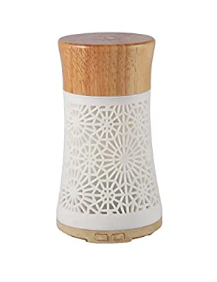 Essential Oils Diffuser 120ml Fragrant Room Sprays Ultrasonic Aroma Mist Atomizer Air Conditioner Room Humidifier for Improving Air Quality yoga Bedroom Conference Room Study Room Living Room-White