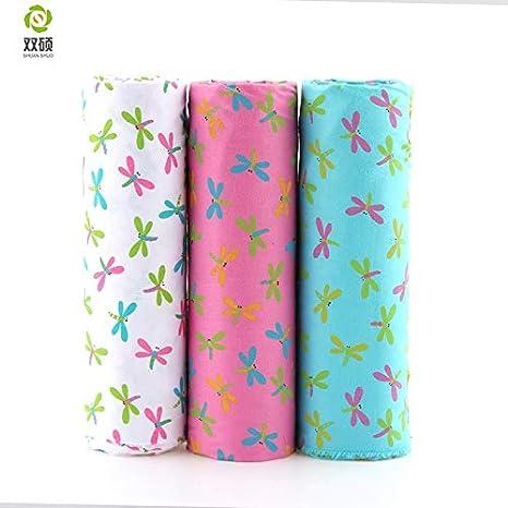 Tela de algodón con estampado de libélula de Maslin, para patchwork, de Fabirc, para vestidos, faldas de muñecas, 40 x 50 cm: Amazon.es: Juguetes y juegos