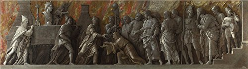 The Perfect Effect Canvas Of Oil Painting 'Andrea Mantegna The Introduction Of The Cult Of Cybele At Rome ' ,size: 16 X 58 Inch / 41 X 146 Cm ,this Best Price Art Decorative Prints On Canvas Is Fit For Living Room Artwork And Home Decoration And Gifts (Light Mirror Renaissance Two)