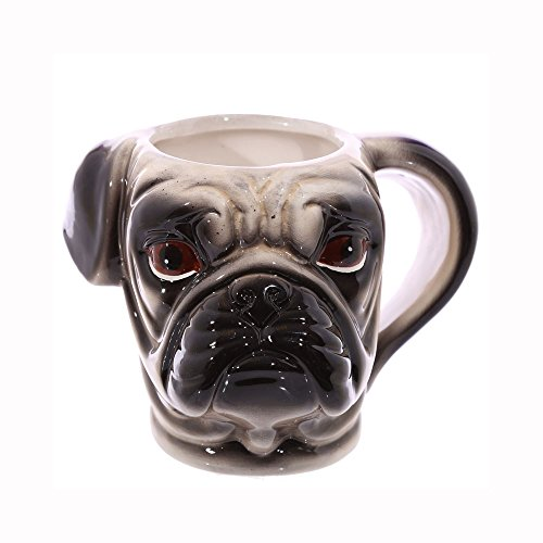 [JUNs Animal-3D-Dog-Head-Ceramic-Mug-Coffee-Cup Drinking-Mug] (Animal That Starts With J)
