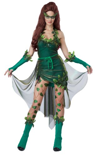 Heroes And Villains Costume (California Costumes Women's Eye Candy - Lethal Beauty Adult, Green,)