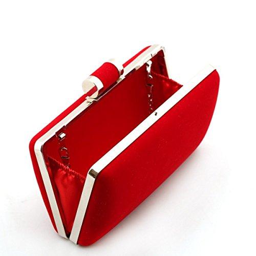 Mode Embrayage Mesdames red Soirée De Diamant Sac Velours 4wRHpqx1R