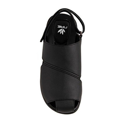 nae Panos Black - sandales véganes faits avec la microfibre écologique
