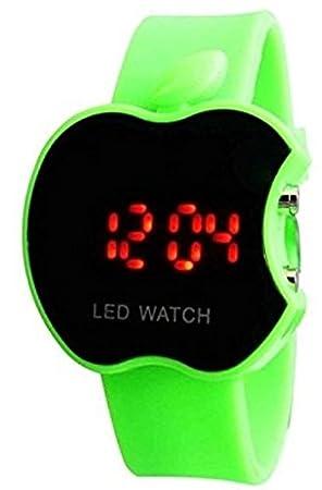 buycrafty verde Apple forma niños Digital LED reloj de pulsera regalo para los niños, niñas, Navidad regalo: Amazon.es: Hogar