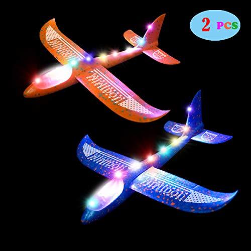 MIMIDOU 2 pcs Flashing Luminous Glider Plane