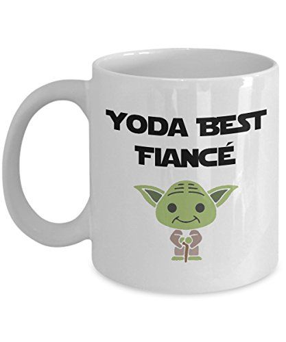 Yoda Best Fiance Mug, Funny Fiance Gifts For Him Anniversary Birthday (Best Birthday Gift For Fiance)