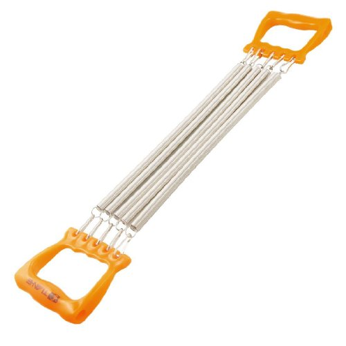 TOOGOO(R) Child Orange Handle Five Springs Chest Expander Pull Exerciser