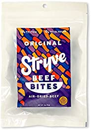 Stryve Biltong, Keto Protein Snack Beef Bites, Original 4oz