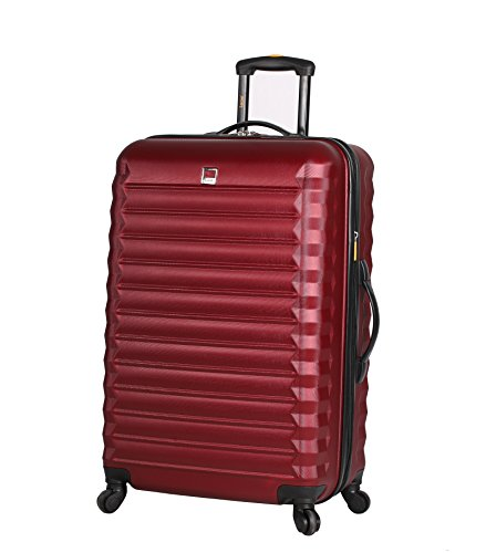 Lucas ABS Large Hard Case 28 inch Checked Suitcase With Spinner Wheels (28in, -