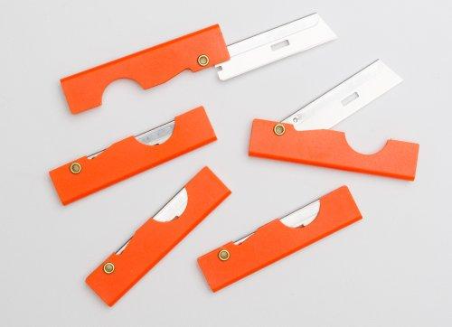 Derma-safe Folding Utility Survival Knife (5-pack) Orange