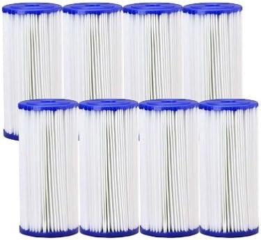 "4.5/"" x 10/"" BIG BLUE Pleated Sediment Cartridge 30 micron 8-Pack"