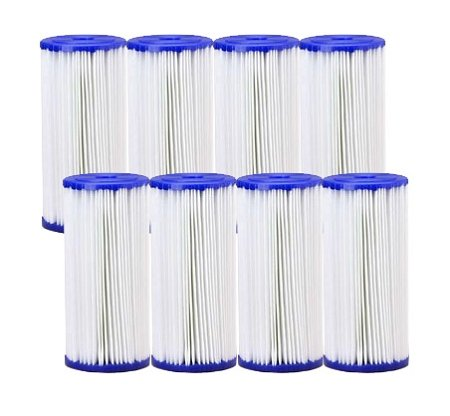 30 Micron Pleated Polyester Sediment Filter 4.5 x 10 Replaces FXHSC - 8 Pack by Hydronix