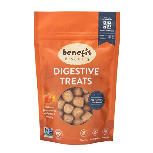 Benefit Biscuits Pumpkin Dog Treats - Certified Vegan All Natural Dog Biscuits 7oz (Peanut Butter Dog Biscuit Recipe With Oatmeal)