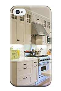 Iphone 4/4s Cover Case - Eco-friendly Packaging(craftsman Details In Transitional California Kitchen)