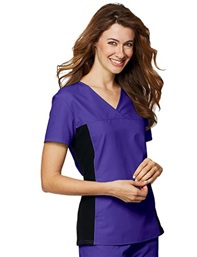 2 V-neck Scrub Pocket Cherokee (Cherokee Flexibles Women's V-Neck Solid Scrub Top Xx-Large Eggplant)