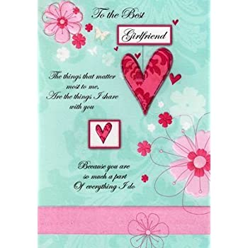 Amazon Second Nature Girlfriend Birthday Cards Poetry In Motion