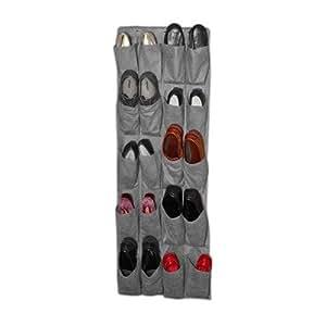 or009g Organizador de pared con 20ranuras, gris