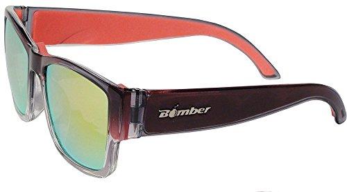 Bomber Gomer Floating Eyewear - 2-Tone Crystal/Red Mirror/Red Foam