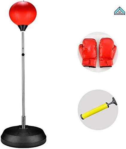 NICEE 自立式ボクシングパンチングバッグスピードボール、120~150 cm調節可能な高さ、手袋とポンプNICE付き