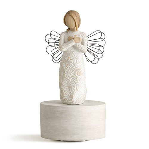 Willow Tree Remembrance Musical, sculpted hand-painted musical - Angel Figurine Music