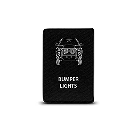 CH4X4 Small Push Switch for Toyota 4Runner - Bumper Lights Symbol - Blue LED CH4x4 Industries
