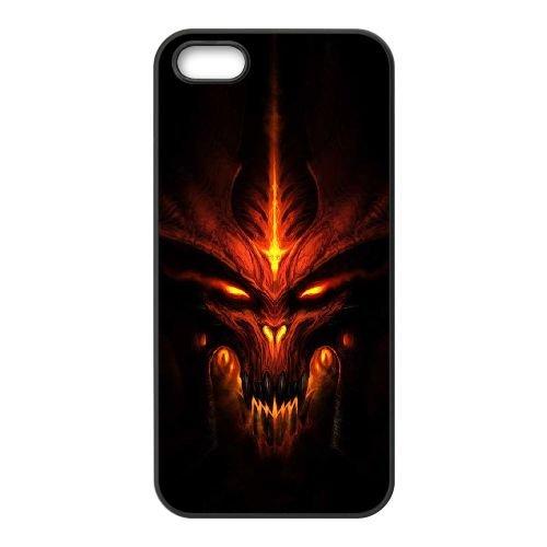 Z9R21 Diablo III J5T2WQ coque iPhone 5 5s cellule de cas de téléphone couvercle coque noire WR5RKT8RH