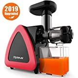 Homever Low Speed Masticating Juicer Extractor, BPA Free Cold Press Juicer, Quite Motor