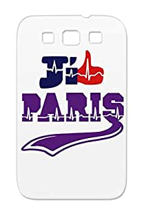 TPU Jaime Paris Case Cover For Sumsang Galaxy S3 Scratch-resistant Cities Countries Purple